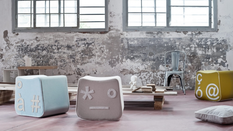 Creative Furniture Design-Pi`gio Poufs by Lucio Curcio for Formabilio