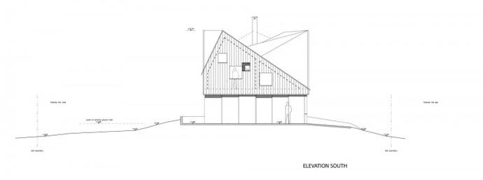 Blueprint Groundfloor Section Plane Dune House By JVA   Modern Vacation Home  In Suffolk, England