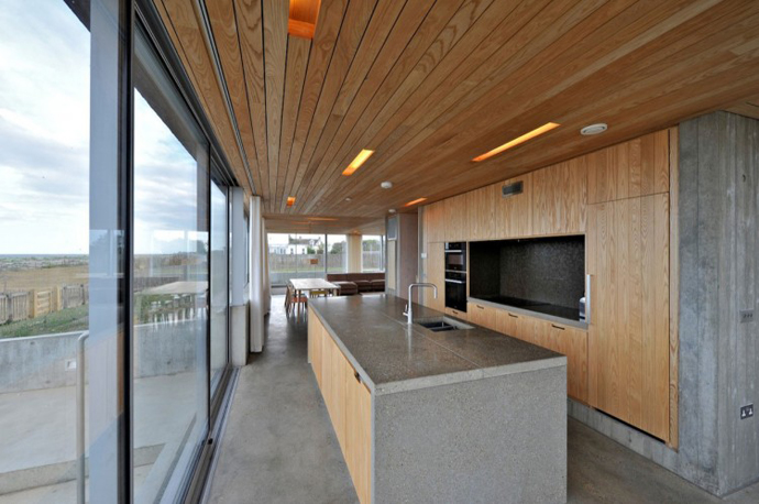 kitchen area Dune House by JVA - Modern Vacation Home in Suffolk, England