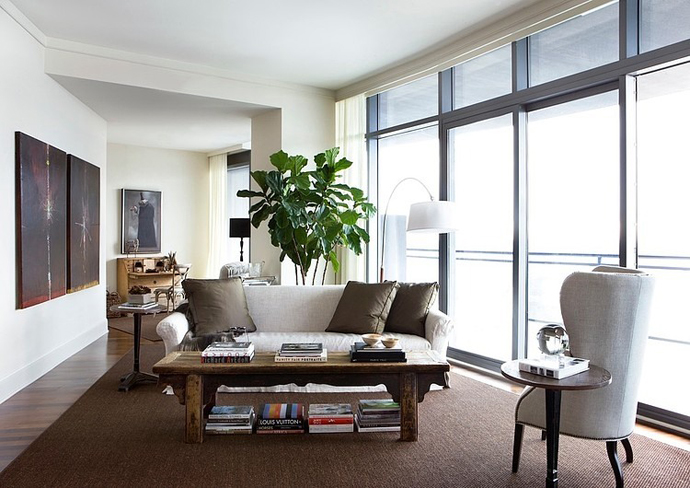 rather small living room design in High Rise Small Spaces - Sovereign Home by Westbrook Interiors