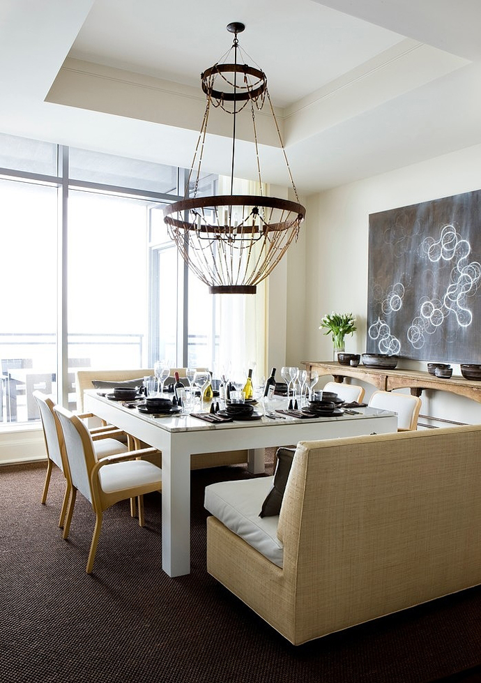 huge dinning area High Rise Small Spaces - Sovereign Home by Westbrook Interiors