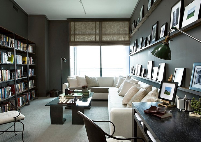 black and white living room interior design High Rise Small Spaces - Sovereign Home by Westbrook Interiors