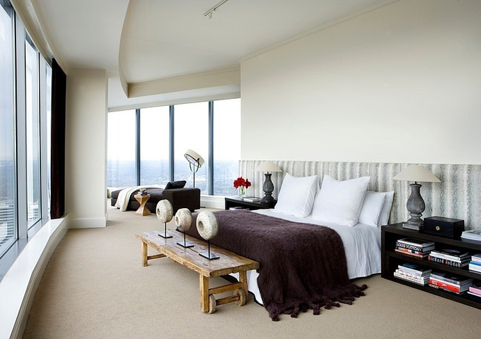 huge bedroom design High Rise Small Spaces - Sovereign Home by Westbrook Interiors