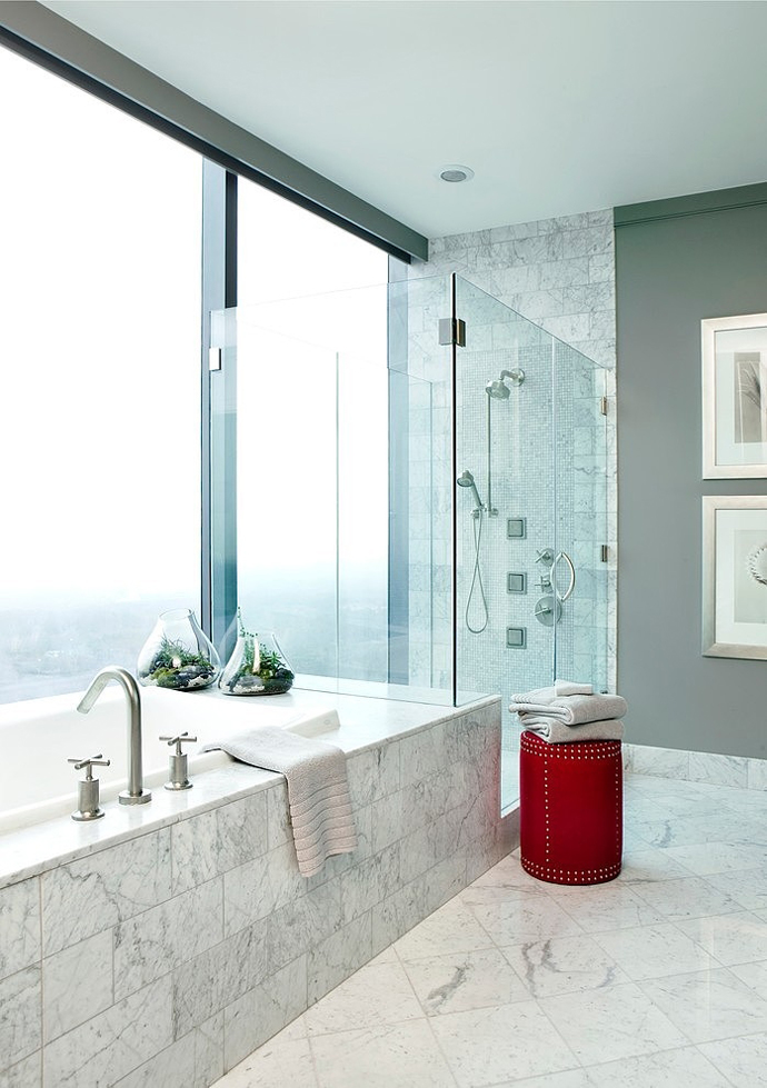 high end bathroom interior design High Rise Small Spaces - Sovereign Home by Westbrook Interiors