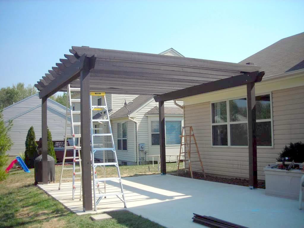 How to build a wood pergola homesthetics