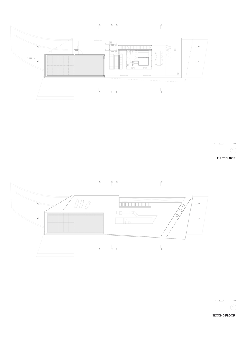 blueprint ground floor plan section plane Jellyfish-House-Modern-Mansion-Exposing-Concrete-and-a-Breathtaking-Swimming-Pool-Suspeneded-in-a-Huge-Cantilever-homesthetics