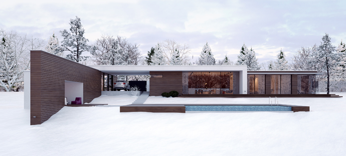 Modern Minimalist Holiday House By Line Architects In Chisinau