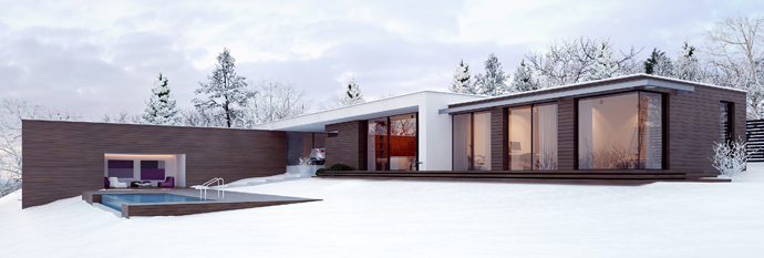 perspective view Modern-Minimalist-Holiday-House-by-Line-Architects-in-Chisinau-Moldova-homesthetics