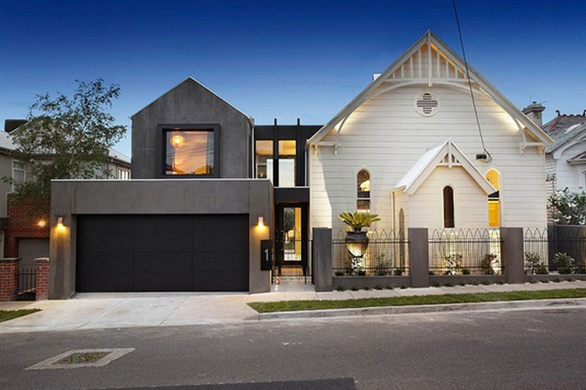 Religious Building Transformed into Incredible Modern Mansion Hudson St by Bagnato Architects
