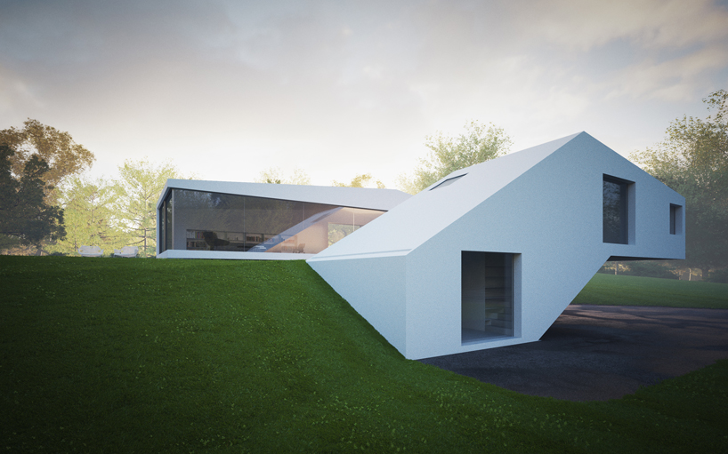 Remarkable White Modern Mansion-House Hafner by Hornung and Jacobi Architecture in Germany