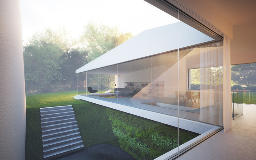 large glazing in Remarkable White Modern Mansion-House Hafner by Hornung and Jacobi Architecture in Germany