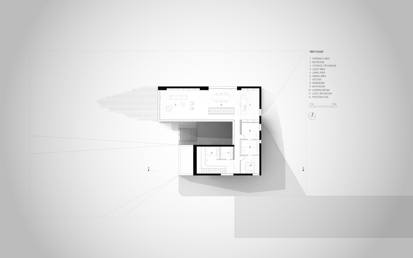 floor plan view in Remarkable White Modern Mansion-House Hafner by Hornung and Jacobi Architecture in Germany