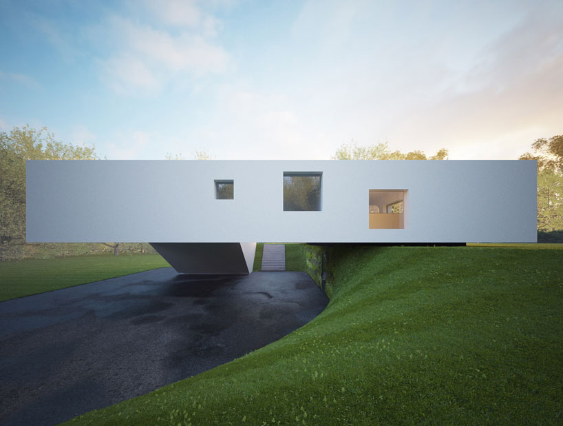 white facade in Remarkable White Modern Mansion-House Hafner by Hornung and Jacobi Architecture in Germany