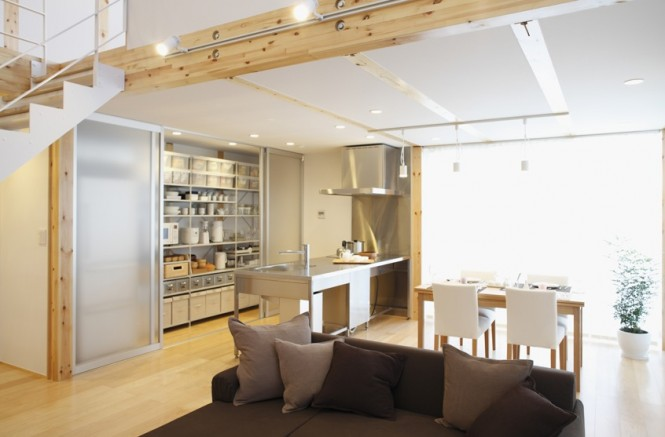 Simple Open Plan Home Generating Equilibrated Small Spaces by Muji ...