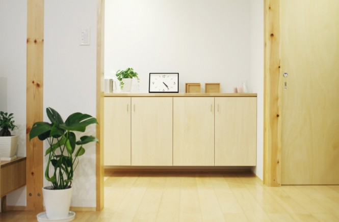 detail shot of Simple Open Plan House Generating Equilibrated Small Spaces by Muji