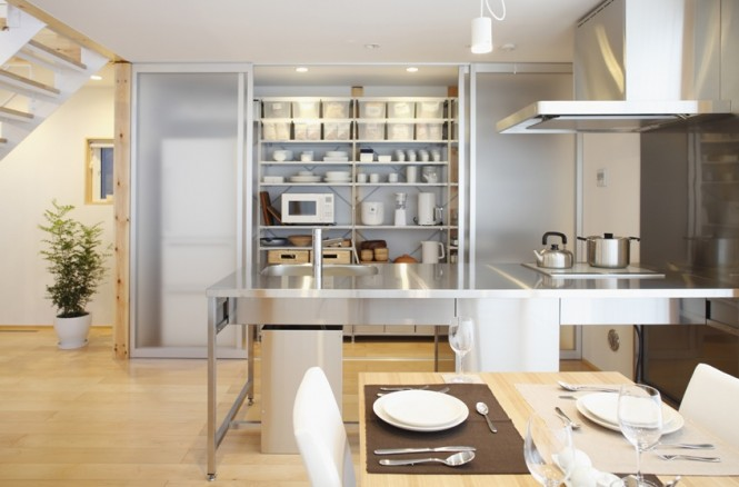 modern kitchen design Simple Open Plan House Generating Equilibrated Small Spaces by Muji