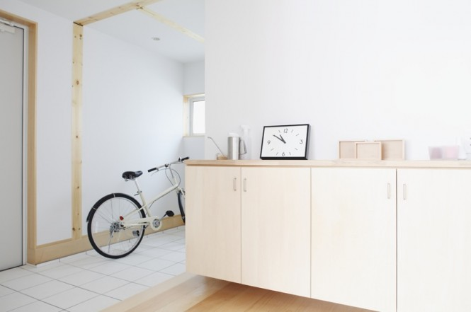 small drawer Simple Open Plan House Generating Equilibrated Small Spaces by Muji