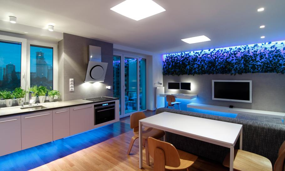 high end Small Slovakian Apartment Enhanced With LED Lighting Envisioned by Rudolf Lesňák