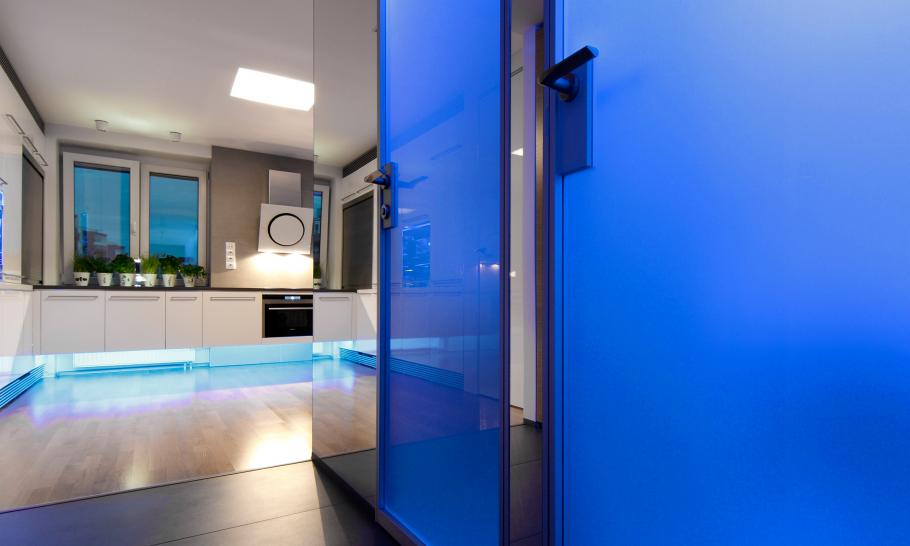 detail shot Small Slovakian Apartment Enhanced With LED Lighting Envisioned by Rudolf Lesňák