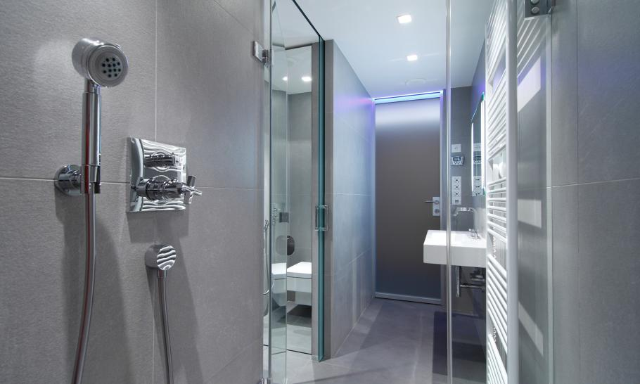 bathroom design Small Slovakian Apartment Enhanced With LED Lighting Envisioned by Rudolf Lesňák