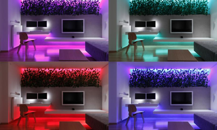 colorful lighting remotely controlled Small Slovakian Apartment Enhanced With LED Lighting Envisioned by Rudolf Lesňák