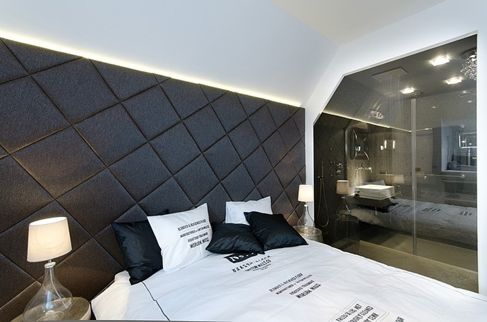 black and white small bedroom design small bedroom interior design Small Tiny Minimalist Black And White Apartment In Prague by OOOOX