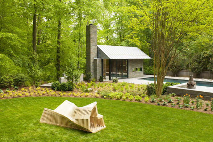 green Supreme Backyard Landscaping Ideas-Nevis Pool and Garden Pavilion by Robert M. Gurney
