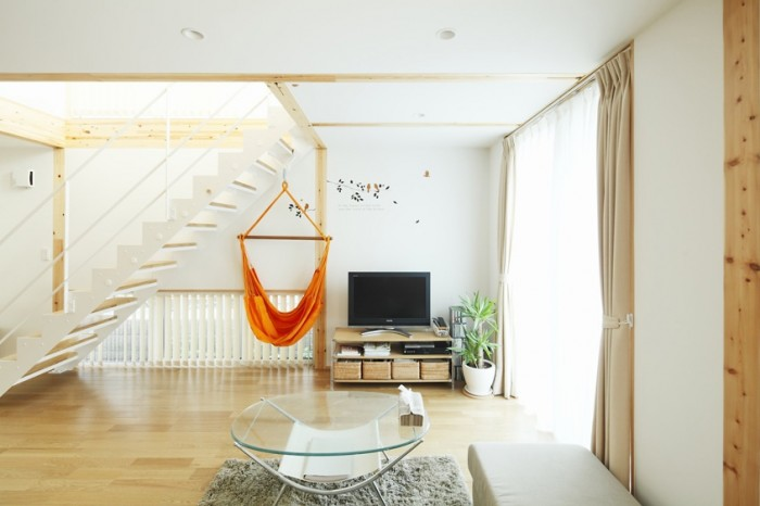 Simple quite calm traditional japanese style blent in contemporary interior design with minimalist and vintage influences