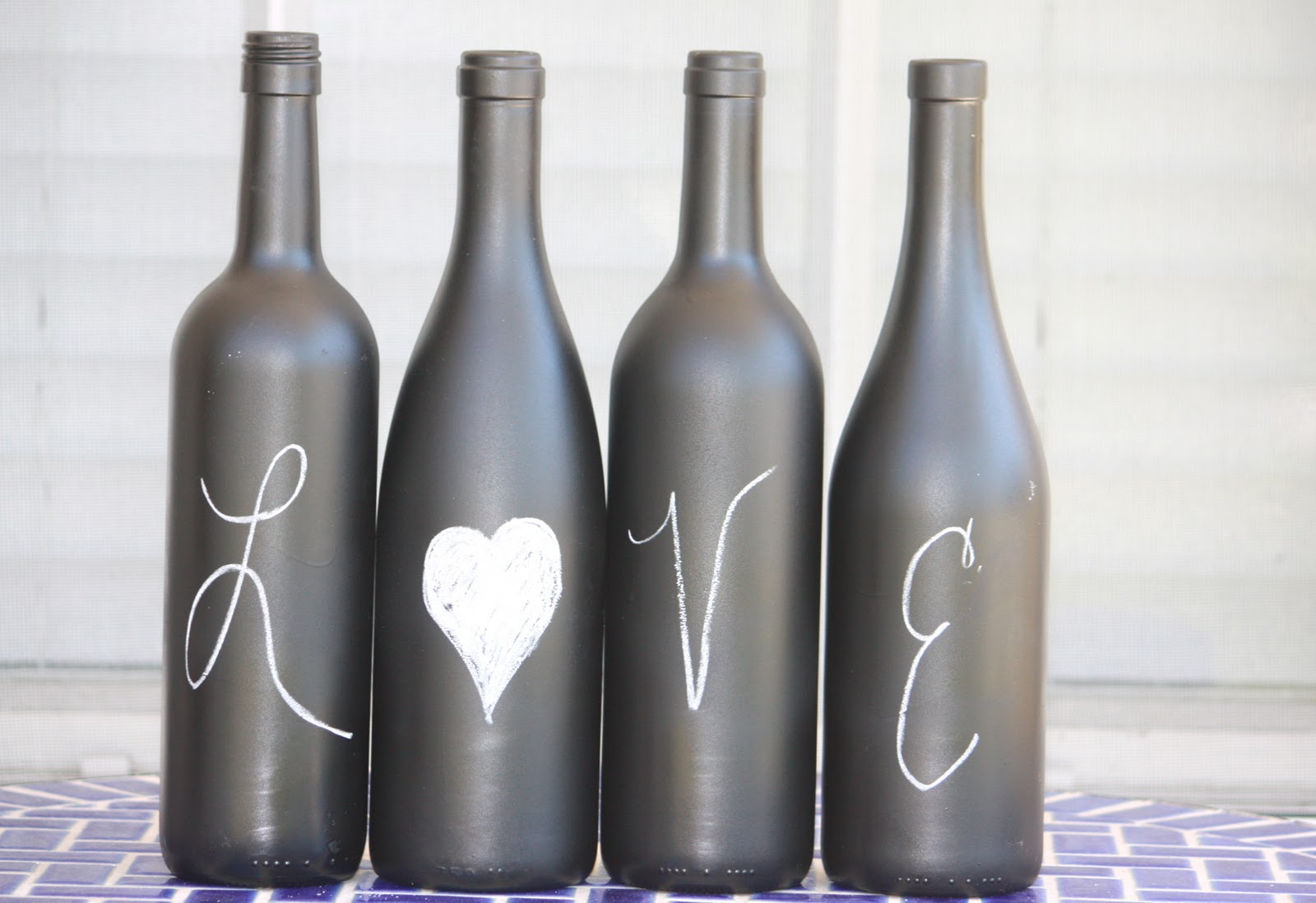 Recycled Wine Bottles-How to Label or Paint a Bottle with ...