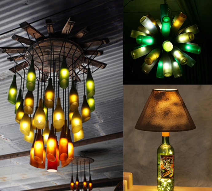 creative lamp wine bottle art 20 Creative & Inspiring Ideas of How to Recycle Wine Bottles Into Pieces of