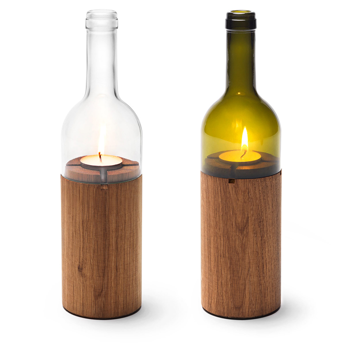 simple lamp wine bottle art 20 Creative & Inspiring Ideas of How to Recycle Wine Bottles Into Pieces of