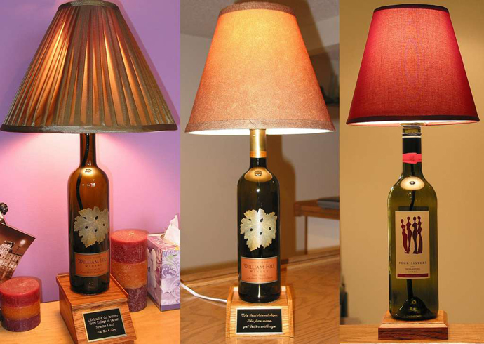BOTTLE LAMPS wine bottle art 20 Creative & Inspiring Ideas of How to Recycle Wine Bottles Into Pieces of Art homesthetics (26)