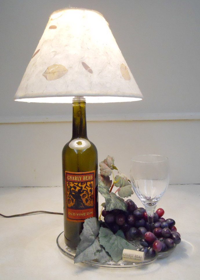 lamp made wine bottle art 20 Creative & Inspiring Ideas of How to Recycle Wine Bottles Into Pieces of