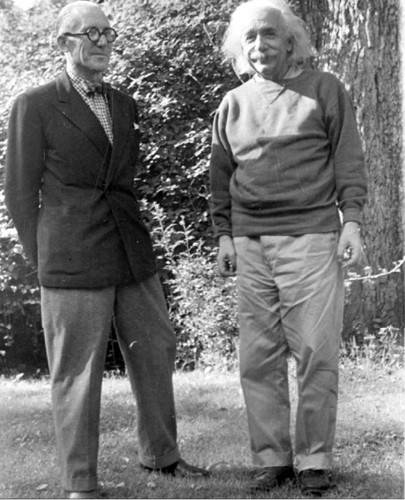 World Renowned Architect Le Corbusier Meets World Renowned Theoretical Physicist Albert Einstein at Princeton