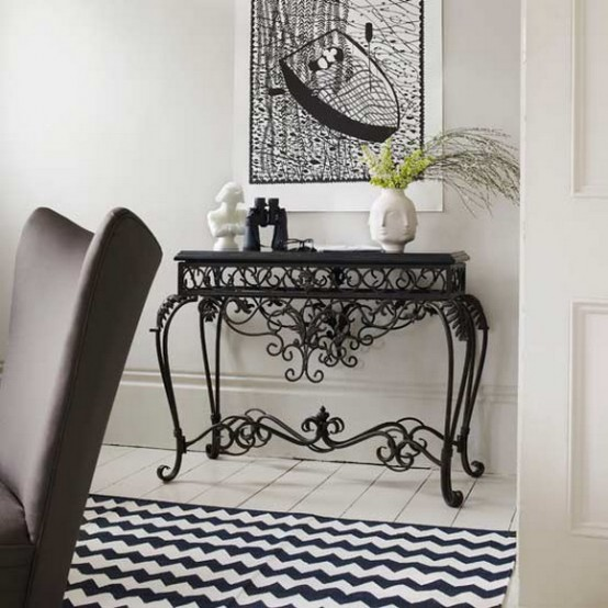 chess like floor 10 Creative & Inspiring Traditional Black And White Hallway Designs