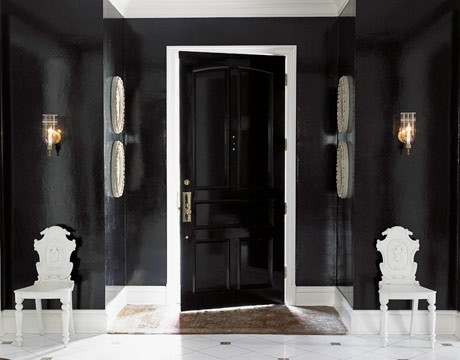 access in the 10 Creative & Inspiring Traditional Black And White Hallway Designs