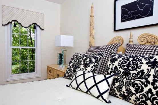 19-Creative-Inspiring-Traditional-Black-And-White-Bedroom-Designs-small-bedroom-homesthetics