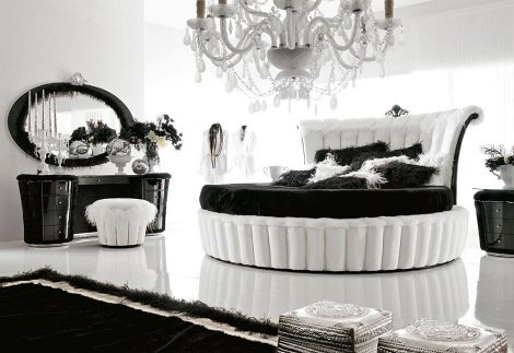 round and circular 19-Creative-Inspiring-Traditional-Black-And-White-Bedroom-Designs-small-bedroom-homesthetics
