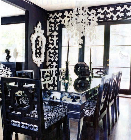 black and white fancy -CreativeInspiring-Black-And-White-Traditional-Dining-Areas-Designs-homesthetics-design