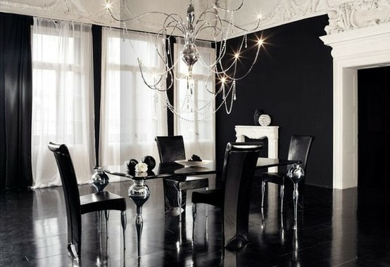 noble and elegant -CreativeInspiring-Black-And-White-Traditional-Dining-Areas-Designs-homesthetics-design