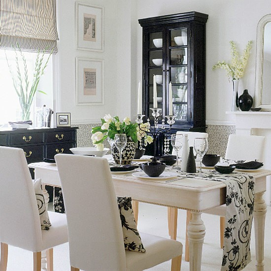 white and black -CreativeInspiring-Black-And-White-Traditional-Dining-Areas-Designs-homesthetics-design