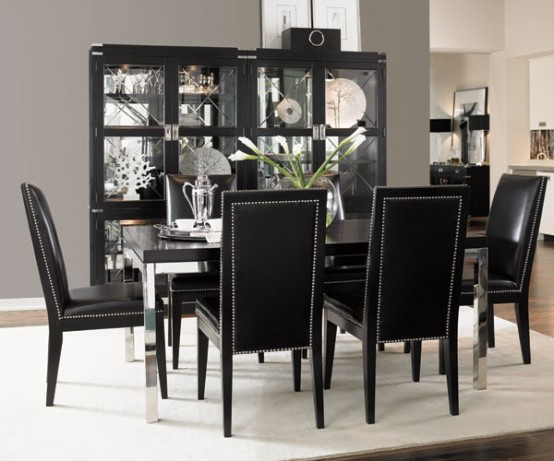 leather black -CreativeInspiring-Black-And-White-Traditional-Dining-Areas-Designs-homesthetics-design