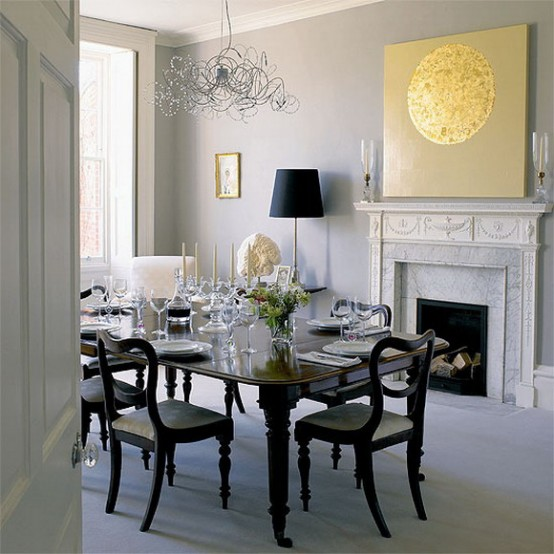 -CreativeInspiring-Black-And-White-Traditional-Dining-Areas-Designs-homesthetics-design by the fireplace