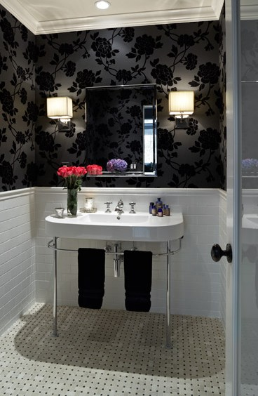 23 creative inspiring cool traditional black and white for Monochrome bathroom designs