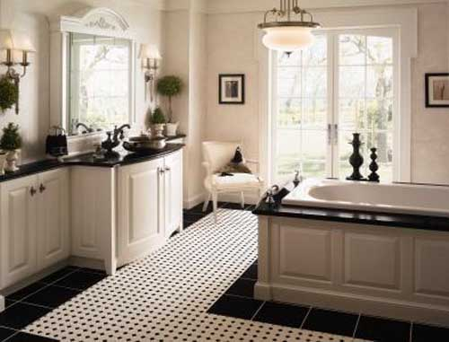 Black And White Bathroom Designs: 23 Creative&Inspiring Cool Traditional Black And White