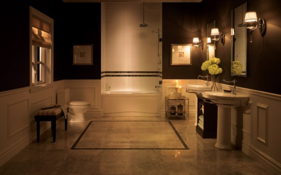 exquisite CreativeInspiring-Cool-Traditional-Black-And-White-Bathrooms-Designs-cool-bathrooms-homesthetics