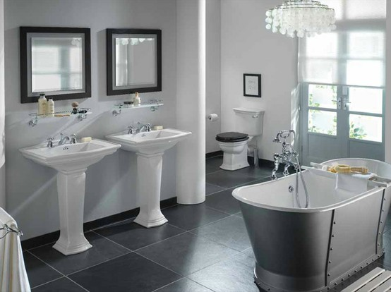 23 creativeinspiring cool traditional black and white bathrooms designs cool bathrooms homesthetics
