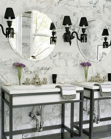 double sink classic CreativeInspiring-Cool-Traditional-Black-And-White-Bathrooms-Designs-cool-bathrooms-homesthetics