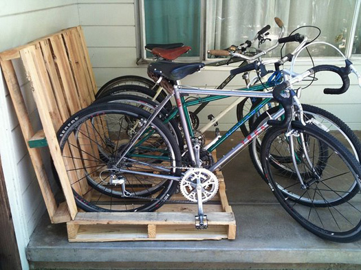 bike rack made out of wooden pallets CreativeInspiring-Methods-of-Recycling-Wooden-Pallets-Into-Your-Own-Garden