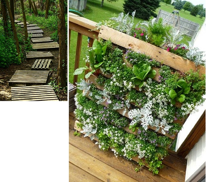 28 creative inspiring methods of recycling wooden pallets for Gardening using pallets